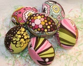 Chocolate Lollipop Easter Eggs - half dozen - Great Decoration or Childrens Basket Filler