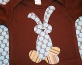 Boys Easter Bunny Shirt - Long Sleeved or Short Sleeve in sizes 0-3 months to size 6