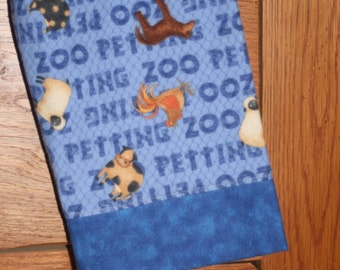 SALE - Petting Zoo Farm Animals Boys Blue Flannel Lounge or Pajama Pants - CUSTOM sizes 12-18, 2, 3, 4, 5