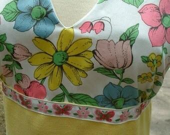 yellow halter maxi w\/recycled fabrics