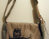 Sockeyed Owl  Woodcut Purse