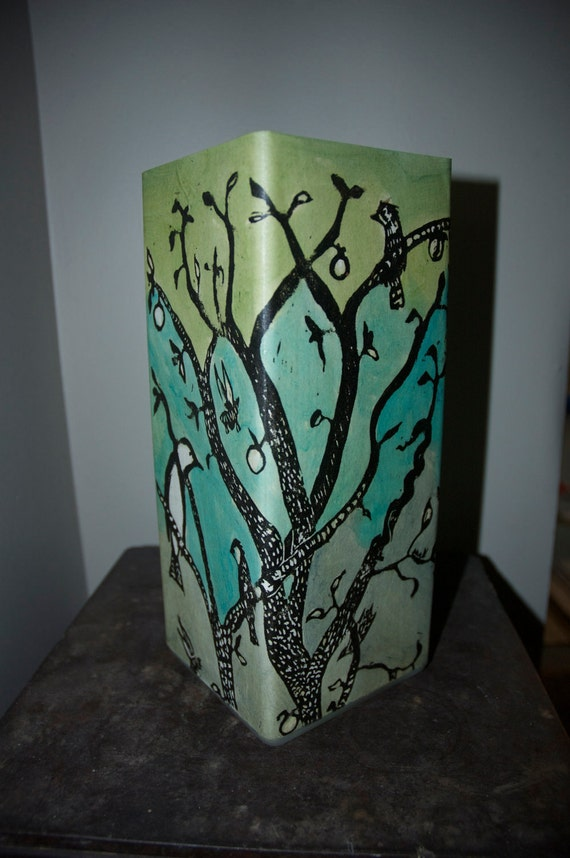 Ink Orchard Lamp