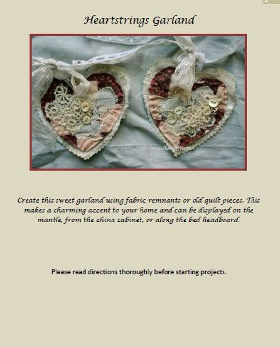 Heartstrings Garland Ebook/Tutorial PDF Format