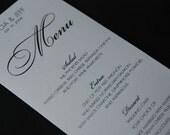 RESERVED FOR PAT Custom Wedding Menu Design