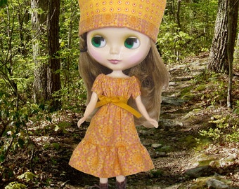 Blythe Peasant Dress Pattern Digital Download Complete With Photo Intructions
