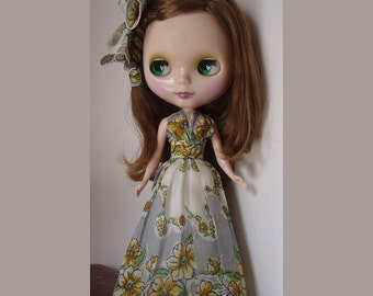 Blythe Doll Vintage Handkerchief Eden Halter Dress Pattern PDF