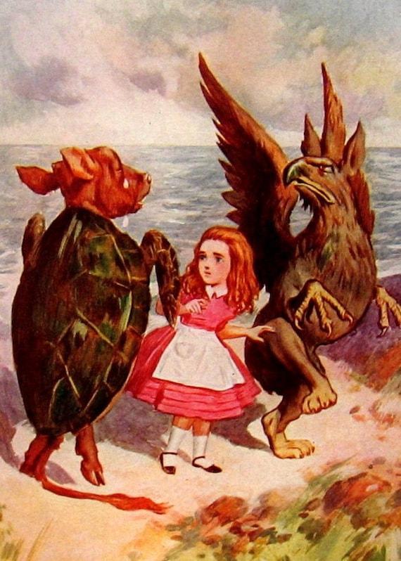 Alice In Wonderland - Antique Book Plate 1902 A2