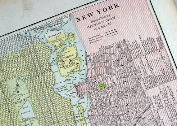 State Map of New York: 1901 Antique Map from Cram's World Atlas