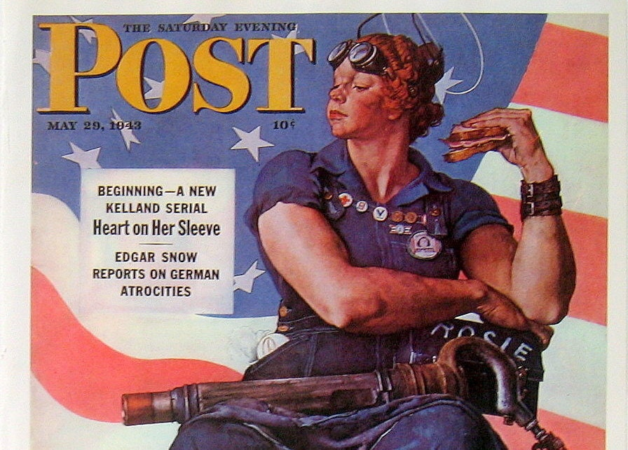 rosie the riveter 1976 norman rockwell saturday evening post. Black Bedroom Furniture Sets. Home Design Ideas