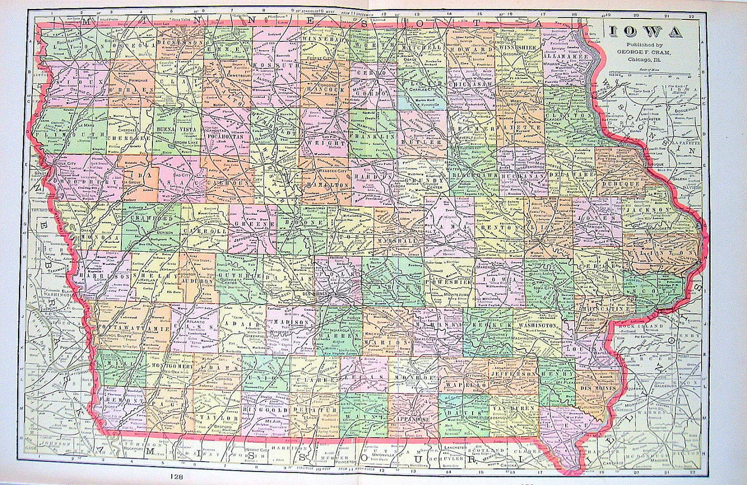 il highway map with State Map Of Iowa 1901 Antique Map From on Oman in addition 96 moreover Maps And Directions 2 moreover Detail 2015 Harley davidson Cvo street glide flhxse Cvo street glide Used 16928295 likewise 14674879081.