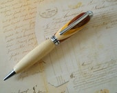 Laminated Wood and Maple Hand Turned Designer Pen FREE STANDARD SHIPPING