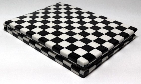 Duct Tape Wallet - 7 Pocket -  Black and White Checker