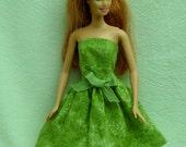 Handmade Barbie Dress green ready to mail