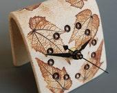 Brown Desk Clock