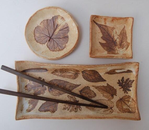 Brown Sushi Set, 3 pieces