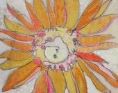 Yellow Dais Jennifer Mercede Paper Print