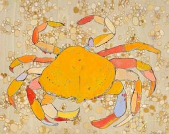 Dunge Crab Jennifer Mercede Canvas Print 24X24