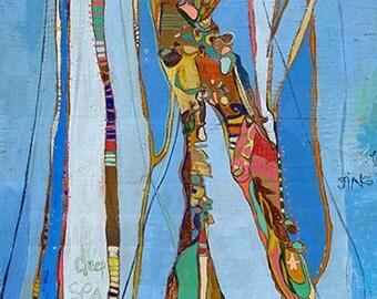 J Gel Jelly Fish Canvas Print by Jennifer Mercede 24X12