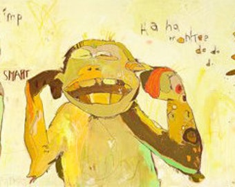 Monkeys Canvas Print by Jennifer Mercede 12X48