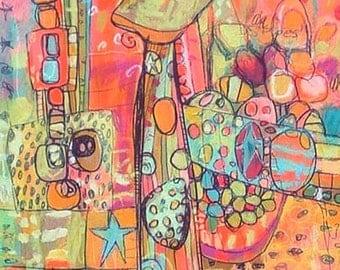 CIRQUEY Giraffe Jennifer Mercede Canvas Print 28x15