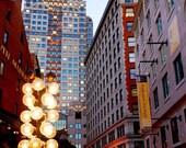 City Photograph, Boston, Urban Landscape Photo, Architecture Picture - 5x7 inch Fine Art Print - And The Dusk Was Full