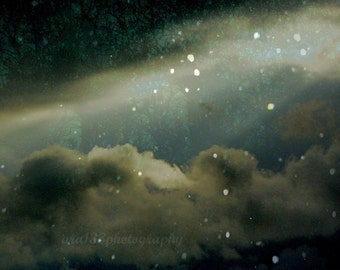 Night Sky Photograph Dark Abstract Picture Landscape Photo Starry Celestial Wall Art  8x10 inch Print At Tara In This Fateful Hour