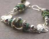 SALE!!!  30% OFF!!!  New Beginning - Borosilicate Glass and Sterling Silver Bracelet