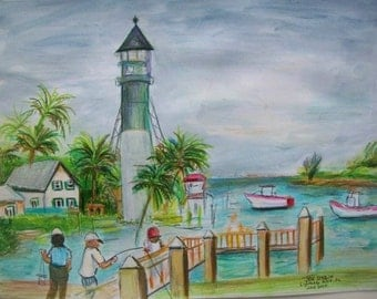 Lighthouse Point,Florida - Original in Frame