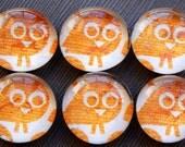Hoot Hoot - Glass Pebble Magnets - Set of 6
