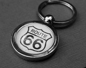 Route 66 - Keychain - Great for Vintage Car Lovers