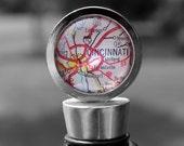 Cincinnati Ohio - Wine Bottle Stopper - Vintage Map - Perfect Hostess Gift
