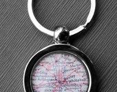 Columbus Ohio - Vintage Map Keychain - Great Gift for Groomsmen