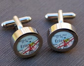 Erie Map Cuff Links - Great Gift