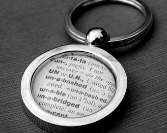 Custom Dictionary Key Chain - Makes a Great Gift - Personalized Keychain