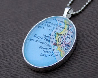 Cape Town Map Necklace
