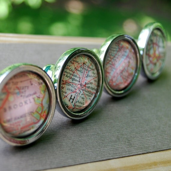 Personalized Vintage Map Drawer Pull Cabinet Knob Handle - You ...
