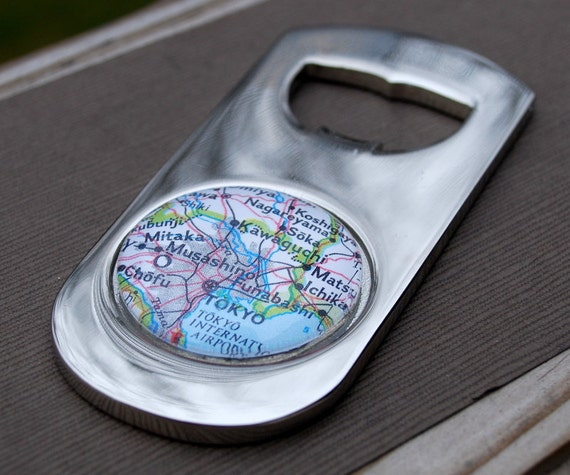 Tokyo Japan Bottle Opener - Vintage Map - Great Groomsmen Gift