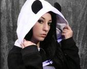 Panda Bear Shrug Hoodie Top DiY - Handmade to Your Size - aNGrYGiRL Gear