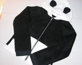 Alt Panda Bear Ear Hoodie Jacket DiY - Handmade to Your Size - aNGrYGiRL Gear