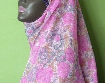 Shayla Hijab Pink Slate Floral Scarf