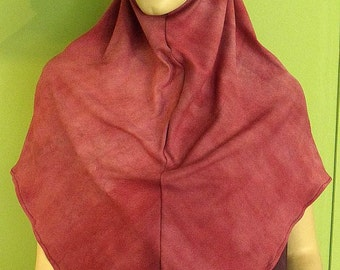 Malay Malasian style one piece hijab in rose swirl