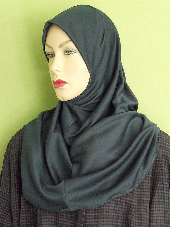 SALE DAMAGED - One Piece Al Amira Hijab Forest Green