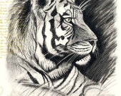 Handmade Tiger Birthday Card - roxy5235