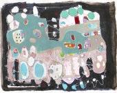 Original Mixed Media Painting abstract  modern