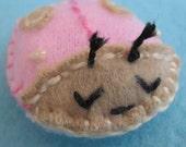 Stocking Stuffer Pink and Tan Love Bug