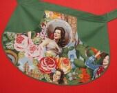 Retro Clothespin Half Apron - 50's Pin Up Girl Apron - Las Senoritas