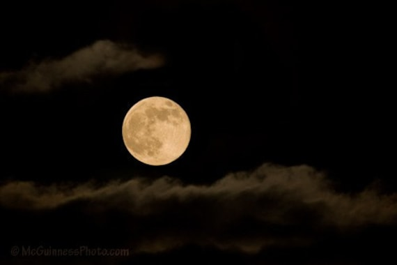 The Full Cold Moon - 5x7 Photograph