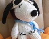 Amigurumi Pilot Snoopy Puppy Dog Crochet Pattern christmas