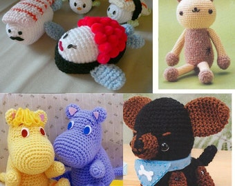 Amigurumi Sushi Cat : Easter Chicken and Rabbit Hello Kitty Crochet Knitting by ...