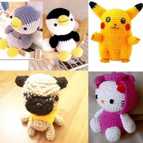 Amigurumi Collection Penguin Pugmart Pug Puppy Pokemon Pikachu